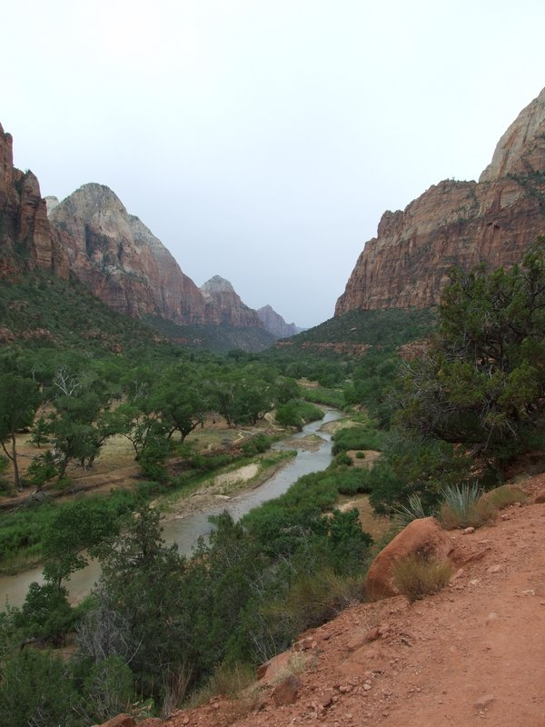 Beautiful view from the Emerald Loop in Zion National Park