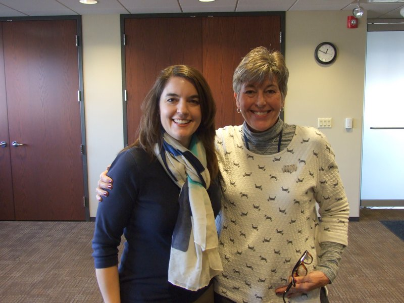 With Meagan Gillan, head of Women Ministries for the Evangelical Covenant Denomination
