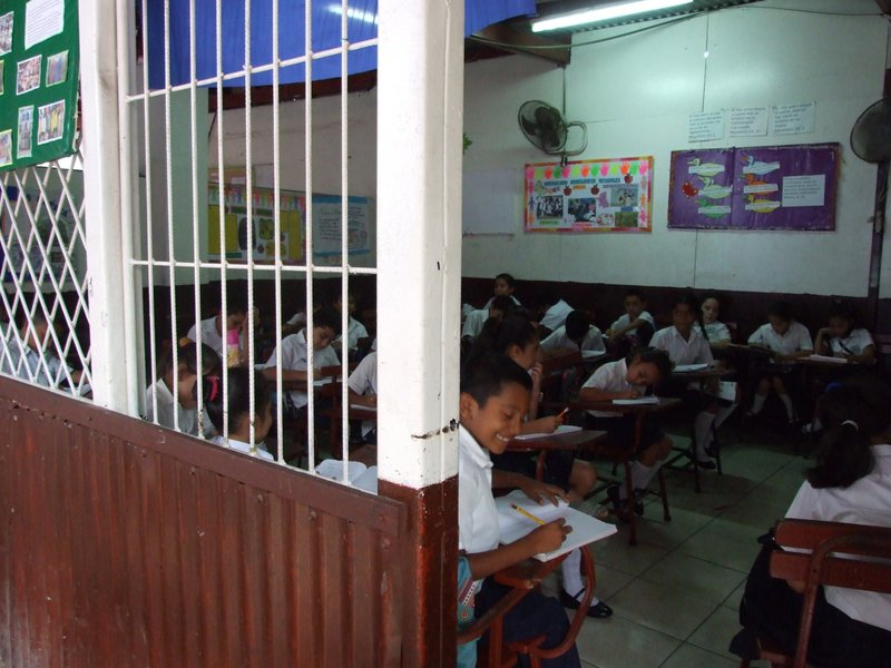 A classroom at the Compassion program in Managua
