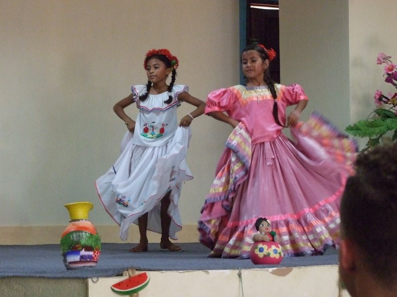 At the welcome assembly in Corinto - some of the children did beautiful traditional Nicaraguan dances