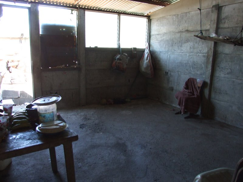 Milagro's home - one of the nicest we saw because it had a floor and concrete walls