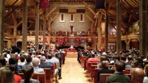 "The gorgeous sanctuary inside ""The Barn Church"" - Liberty Presbyterian"