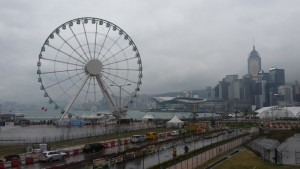 Hong Kong - best shot we got on a very dreary day