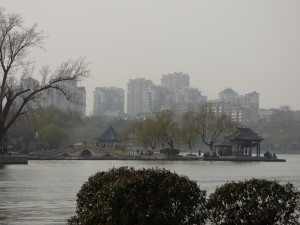 Daming Lake in Jinan - beautiful in spite of the smog