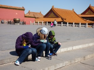 While Noah was crying, our other kids started praying for him right in the Forbidden City - incredibly sweet for me to see