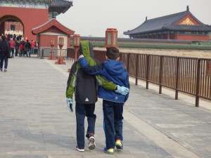 One of my favorites - the boys walking into the Summer Palace