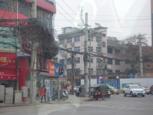 A street scene, but check out the overhead lines!!!