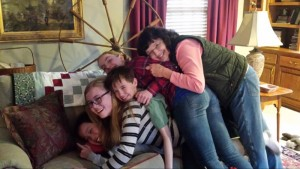 More proof he's in a crazy family - Noah on the bottom under all his siblings and his grandma!