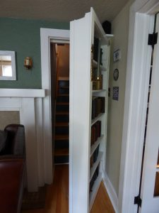 Wait, what?!  It's a secret staircase?!  The kids did triple takes - this house is super cool!