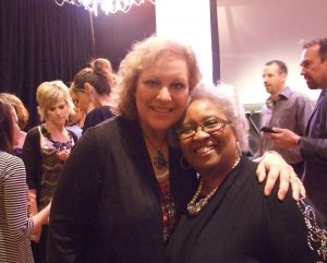 Donna getting to meet one of her long-time favorites from Women of Faith, Thelma Wells, at a conference we were at together.