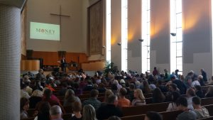 The funky mid-century modern sanctuary at First Christian